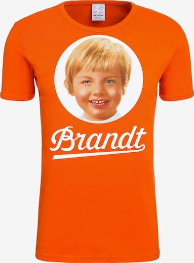 LOGOSHIRT T-Shirt 'Brandt Zwieback 70's' in mischfarben / orange / weiß, Produktansicht