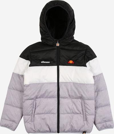 ELLESSE Jacke in hellgrau / schwarz / weiß, Produktansicht
