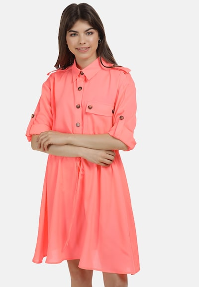 MYMO Kleid in neonpink, Modelansicht