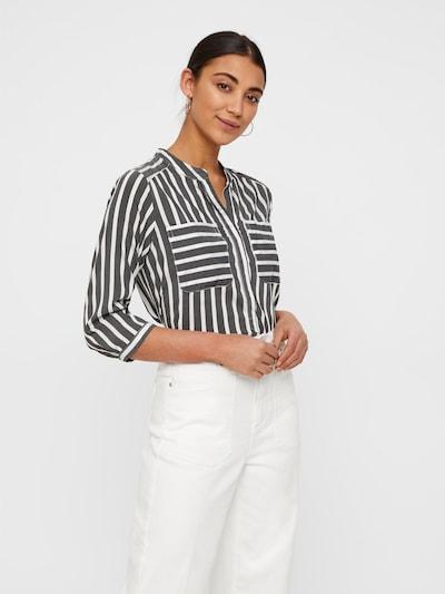 VERO MODA Blouse 'Vmerika' in de kleur Grijs / Wit, Modelweergave