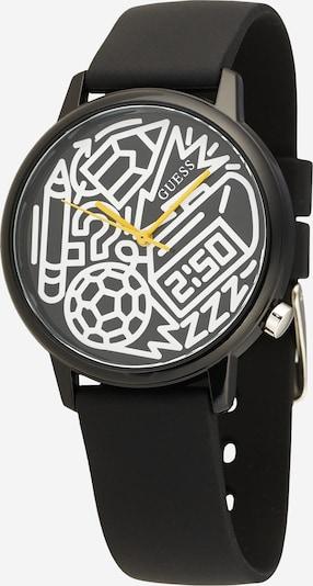 GUESS Montre à affichage analogique 'Time To Give' en noir / blanc, Vue avec produit