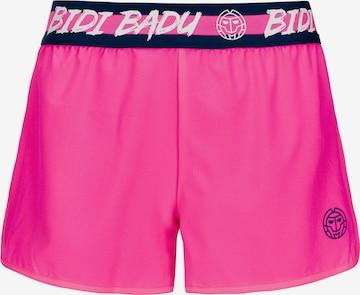 BIDI BADU Shorts 2-in-1 Grey Tech mit innenliegender Tight in Pink