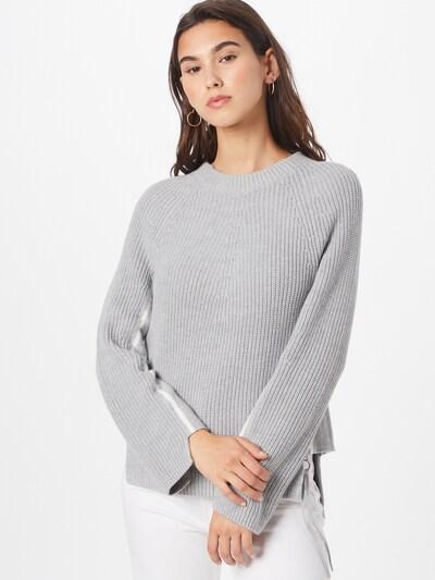 OUI Pullover in graumeliert / weiß, Modelansicht
