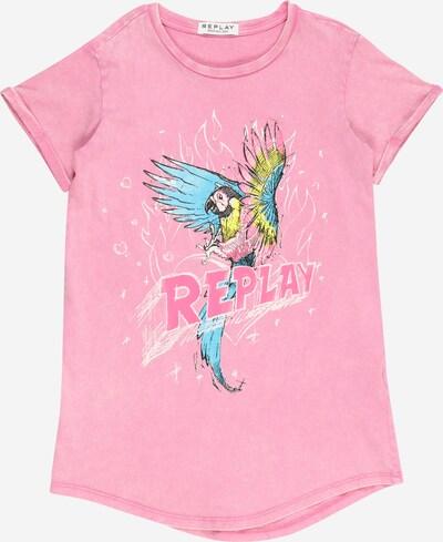 REPLAY Kleid in hellblau / gelb / pink, Produktansicht
