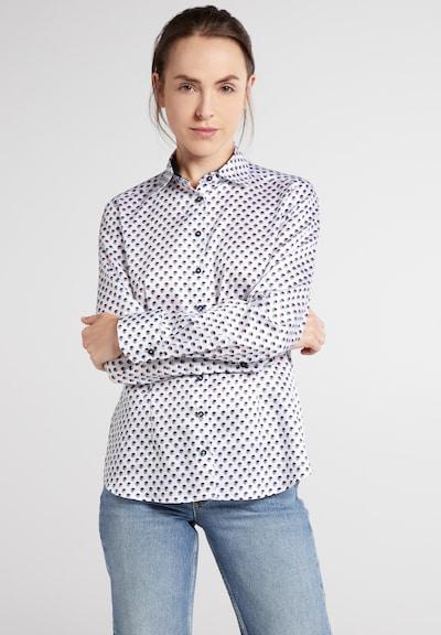 ETERNA Bluse in blau / braun / weiß, Modelansicht