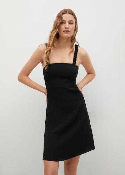 MANGO Kleid 'Brick' in schwarz, Modelansicht