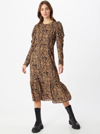 Neo Noir Kleid 'Suzann' in hellbraun / schwarz, Modelansicht