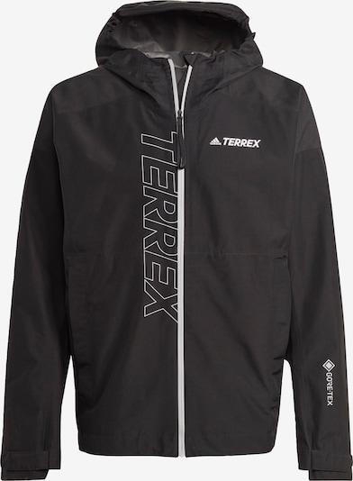 adidas Terrex Regenjacke in schwarz / weiß, Produktansicht