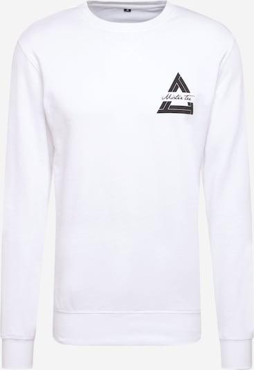 Mister Tee Sweatshirt in schwarz / weiß, Produktansicht