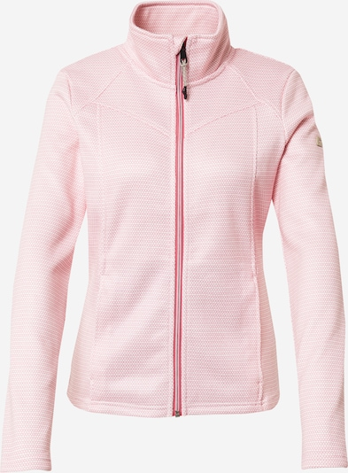 KILLTEC Functional fleece jacket in coral / white, Item view