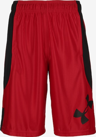 UNDER ARMOUR Sporthose 'Perimeter' in Rot