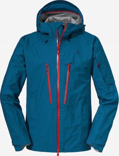Schöffel Skijacke ' Val d Isere2 ' in blau / rot, Produktansicht