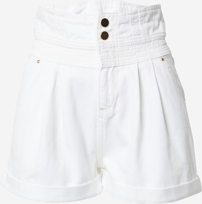 River Island Jean à pince 'STRAWBS SHORT' en blanc, Vue avec produit