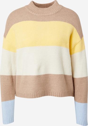PIECES Pullover 'Sille' in beige / hellblau / gelb / naturweiß, Produktansicht