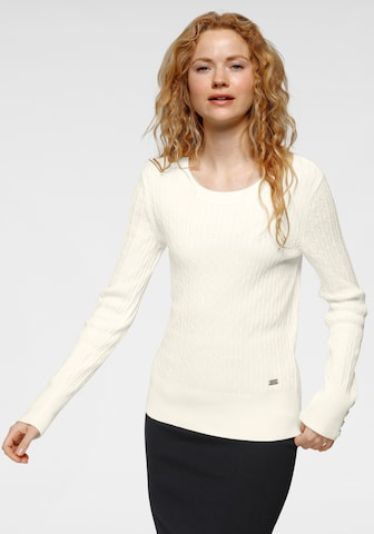 Tom Tailor Polo Team Sweater in White