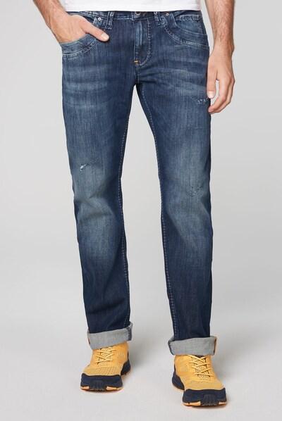 CAMP DAVID Jeans RU:SL Regular Fit mit Destroy-Effekten in blau, Modelansicht