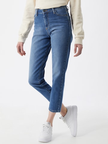 Yellow Blue Denim Jeans 'Mamita' i blå