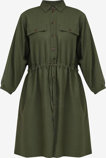 Finn Flare Langarm-Kleid in dunkelgrün, Produktansicht