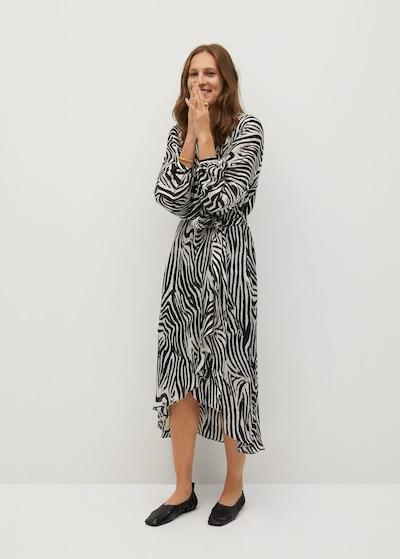 MANGO Kleid in schwarz / weiß, Modelansicht