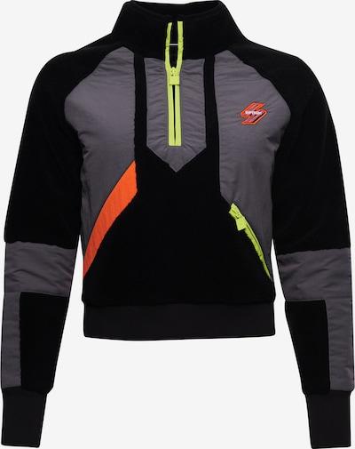 Superdry Sweatshirt in neongelb / grau / neonorange / schwarz, Produktansicht