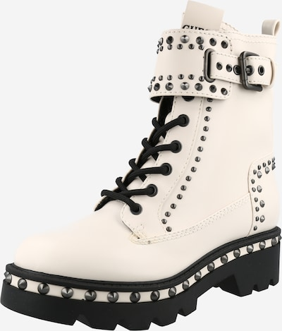 GUESS Lace-Up Ankle Boots in Cream, Item view
