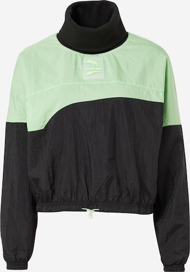 PUMA Sweatshirt in neongrün / schwarz, Produktansicht