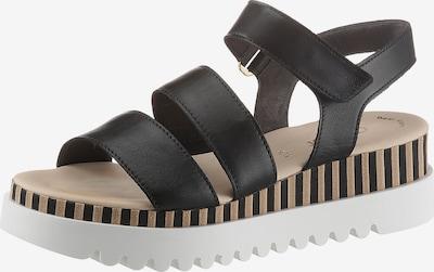 GABOR Sandalette in goldgelb / schwarz / weiß, Produktansicht