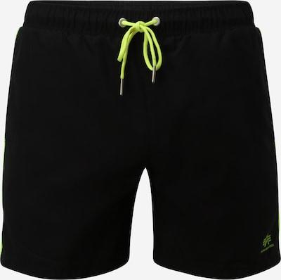 ALPHA INDUSTRIES Шорти за плуване в светлозелено / черно, Преглед на продукта