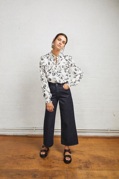 Aligne Bluse 'Elaine' in schwarz / weiß, Modelansicht