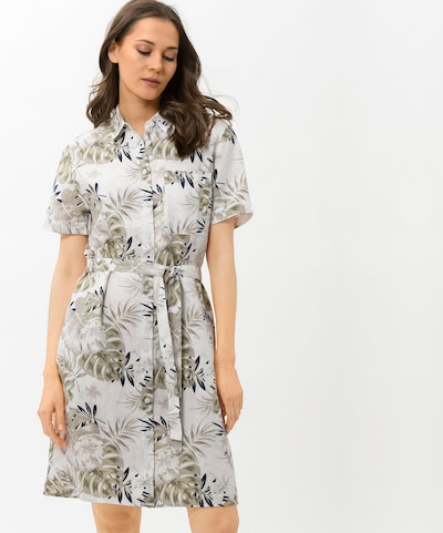Rochie tip bluză ''STYLE GISELE' BRAX pe bleumarin / kaki / alb, Vizualizare model