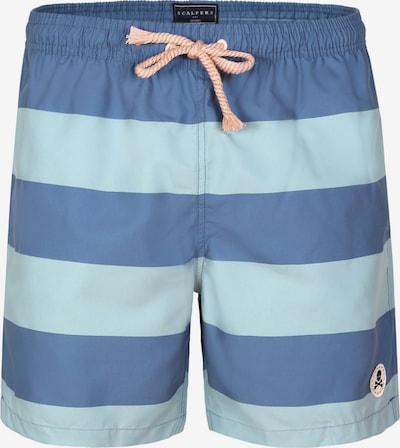 Scalpers Shorts de bain en bleu clair / bleu foncé, Vue avec produit