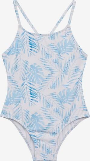 MANGO KIDS Badeanzug in pastellblau / neongrün / weiß, Produktansicht