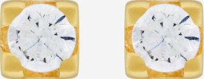 ID Fine Boucles d'oreilles en or / blanc, Vue avec produit