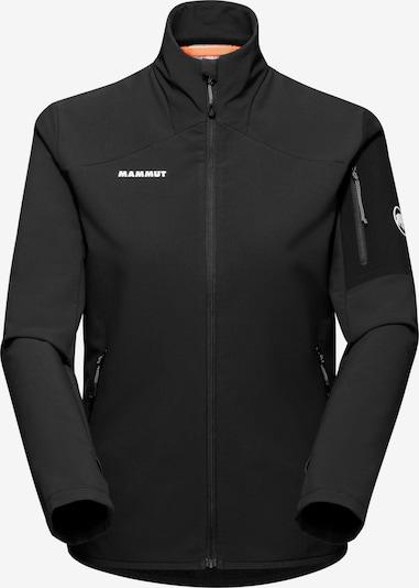 MAMMUT Athletic Fleece Jacket 'Madris' in Black / White, Item view