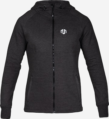 MOROTAI Athletic Zip-Up Hoodie ' Neotech Full Zip Hoodie 2.0 ' in Grey