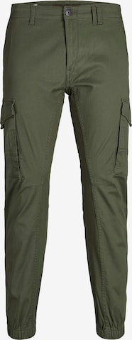 Pantalon cargo 'Paul Flake' JACK & JONES en vert