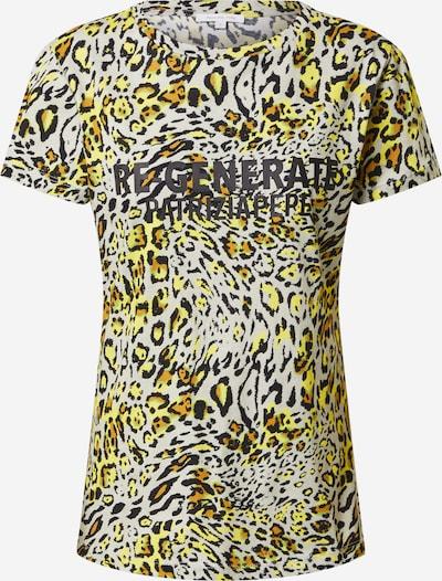 PATRIZIA PEPE Тениска 'MAGLIA' в жълто / пастелно зелено / черно / бяло, Преглед на продукта