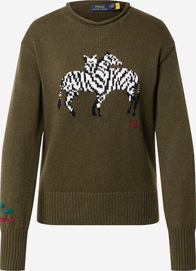 Polo Ralph Lauren Sweater in Olive / Jade / Red / Black / White, Item view