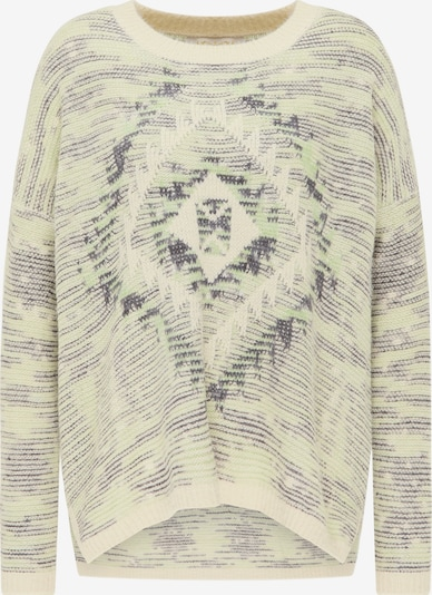 usha FESTIVAL Trui in de kleur Pastelgroen / Zwart / Wolwit, Productweergave