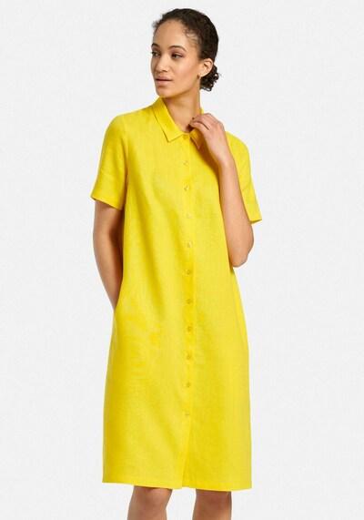 Peter Hahn Abendkleid in gelb, Modelansicht