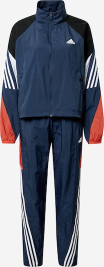ADIDAS PERFORMANCE Trainingsanzug 'GAMETI' in navy / rot / schwarz / weiß, Produktansicht