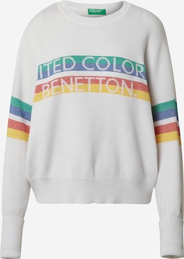 UNITED COLORS OF BENETTON Pulover u miks boja / bijela: Prednji pogled