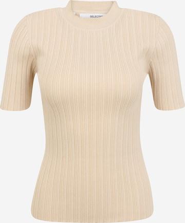Selected Femme Petite - Jersey 'Queen' en beige