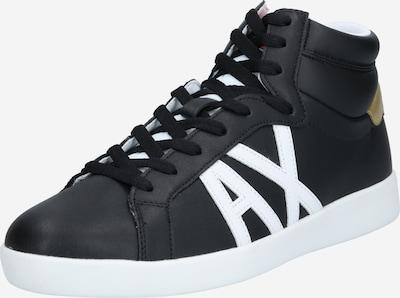 fekete / fehér ARMANI EXCHANGE Magas szárú edzőcipők, Termék nézet