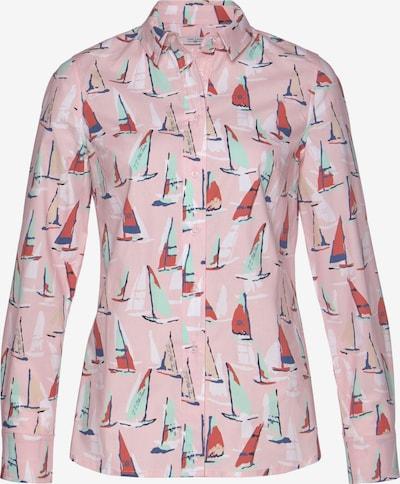 Tom Tailor Polo Team Bluse in mint / pink / rot / schwarz, Produktansicht