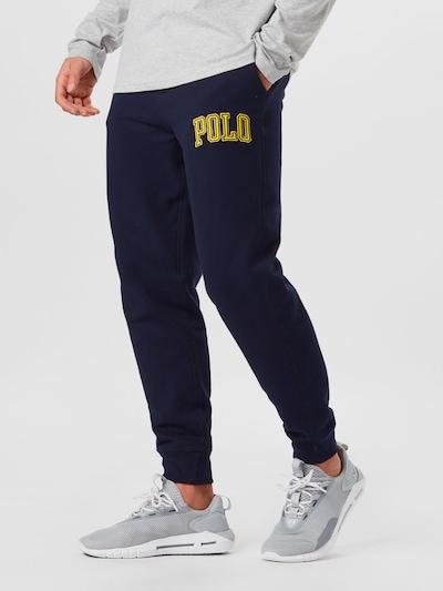 POLO RALPH LAUREN Панталон в нейви синьо / тъмножълто, Преглед на модела