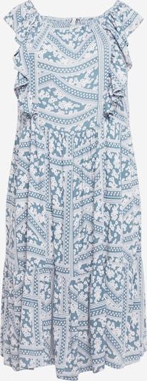 ONLY Carmakoma Kleid in taubenblau / weiß, Produktansicht