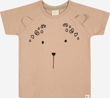 Turtledove London Shirt 'Leopard Ear' in Braun