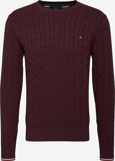 TOMMY HILFIGER Trui in de kleur Navy / Rood / Bourgogne / Wit, Productweergave