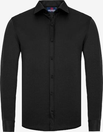 CIPO & BAXX Freizeit-Hemd in Schwarz